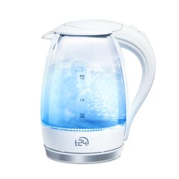 T24 Borosilikatglas Wasserkocher mit LED 2200 Watt 1,7...
