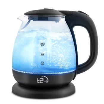 T24 Borosilikatglas Wasserkocher mit LED 1100 Watt 1...