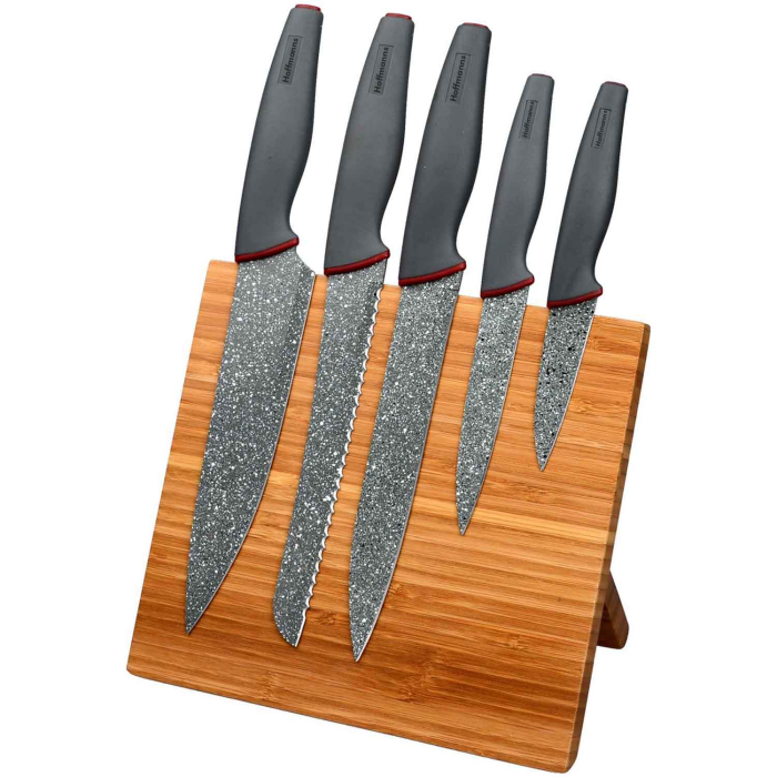 Hoffmann 6-Pieces Kitchen Knife Set With Magnetic Holder