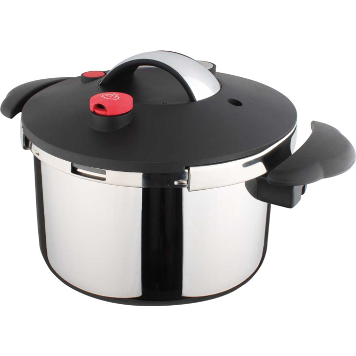 Stainless Steel Pressure Cooker Brussels 7L Bakelite Handles Locking Valve
