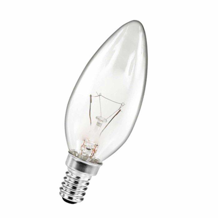 Philips 10er Glühlampen Set in Kerzenform 25W E14 Klar B35