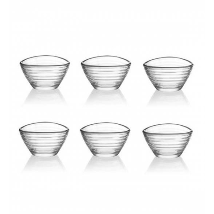 LAV 6 teiliges Mini-Glasschalen Set Serie DERIN 68 ml