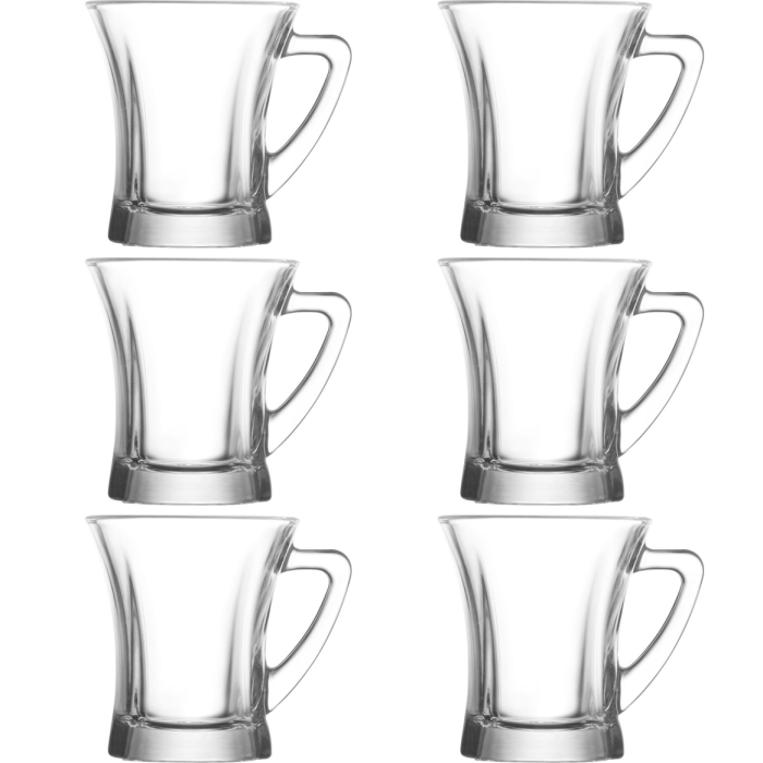 LAV 3-pieces Glasses Set Beverage Glasses Tea Glasses With Handle Cay Bardagi 225mL