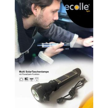 ecolle LED Taschenlampe mit Akku und Powerbank Stecker