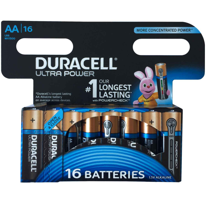 Duracell MX1500 Ultra Power Mignon AA Alkaline 16er Set