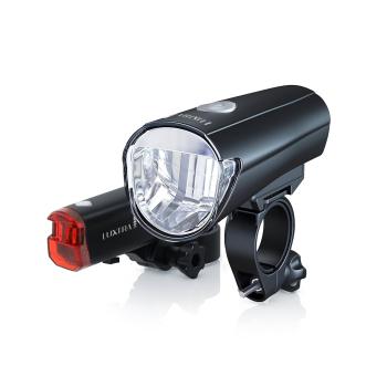 ecolle LED Fahrradlampen Set, Front & Rücklicht,...