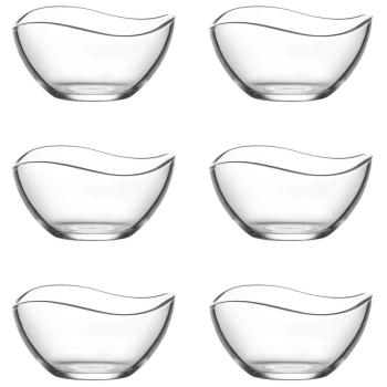 """LAV 6 teiliges Glasschalen-Set """"Serie VIRA"""" 215 ml"""