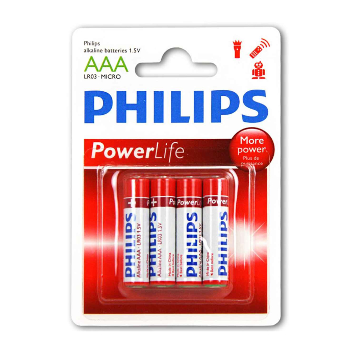 Philips Powerlife LR03 AAA Micro Batterien, 48er Set