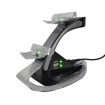 PS4 Dualschock 4 Ladestation bis zu 4 Controller, schwarz