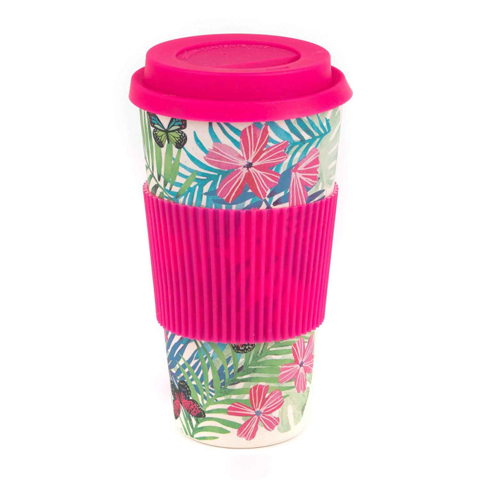 Cambridge Eco Reisebecher Bambus 560 ml, Tropical Forest