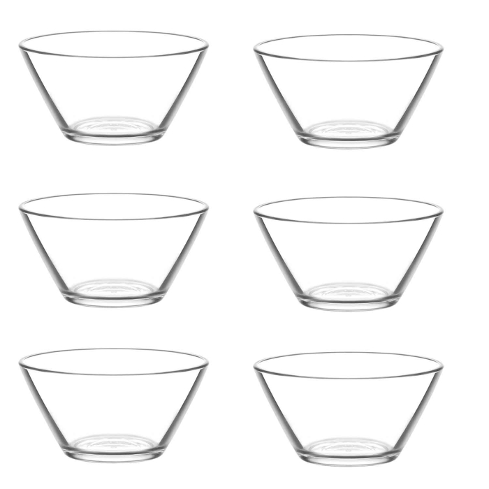 LAV 6 teiliges Glasschalen-Set Serie VEGA 345 ml