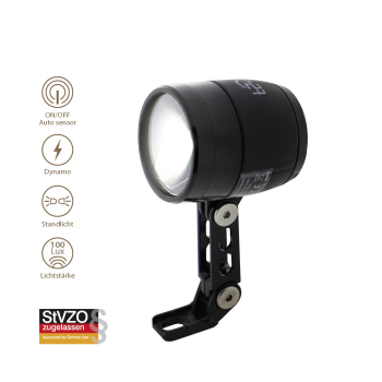 t24 Front Ultra Bright 100 Lux LED Fahrrad Frontlicht mit...