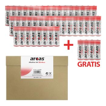 ARCAS Alkaline LR6/AA (32+4) Batterien mit Maxibriefkarton