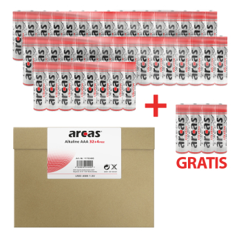 ARCAS Alkaline LR03/AAA (32+4) Batterien im Maxibriefkarton