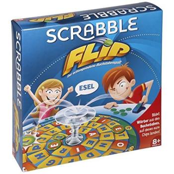 Mattel Scrabble Flip Brettspiel, Strategiespiel, 2-4 Spieler