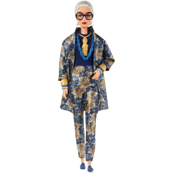 Barbie FWJ28  Styled By Iris Apfel Puppe mit blauem Outfit