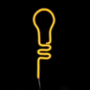 T24 Neon LED Streifen 1 m 120 LED Kabel, gelbes Licht