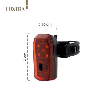 LUXTRA LED Fahrrad Rücklicht mit Bremslichtsensor...