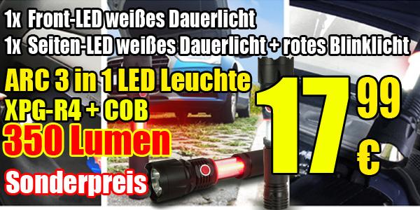 Arcas 3 in 1 LED Taschenlampe